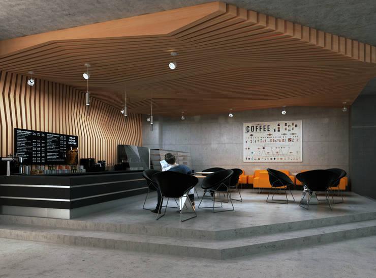 Book Store / Almaty: Коммерческие помещения в . Автор – Lenz Architects, Лофт