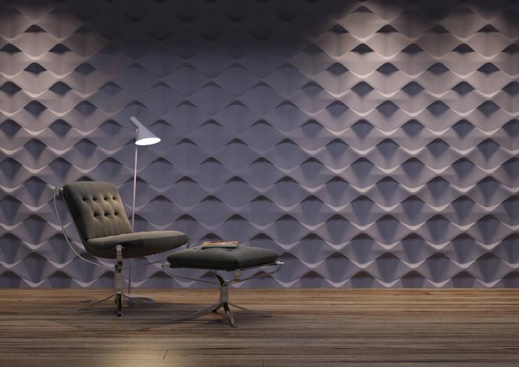 Panele 3D: styl , w kategorii Domowe biuro i gabinet zaprojektowany przez Deeco,