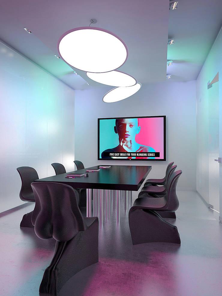 Студия креативного агенства БЦ Манхеттен. г.Екатеринбург: Рабочие кабинеты в . Автор – Dmitriy Khanin,