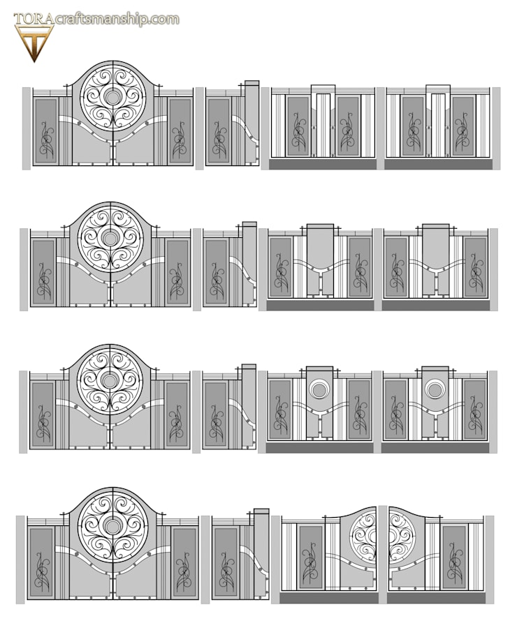 """""""Wschód Słońca"""": styl , w kategorii  zaprojektowany przez TORA bramy i ogrodzenia,"""