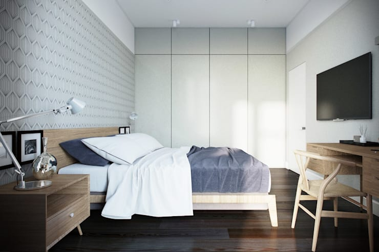NK design studio:  tarz Yatak Odası