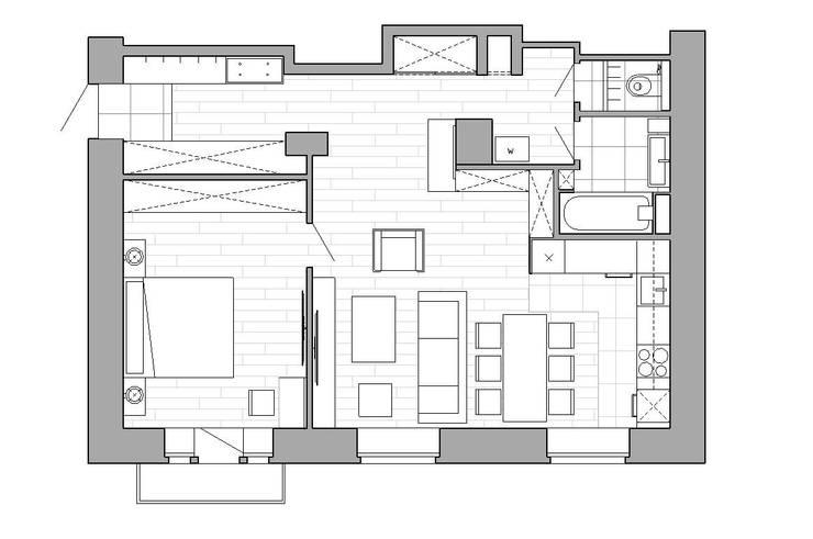 Дизайн квартиры г.Москва :  в . Автор – NK design studio