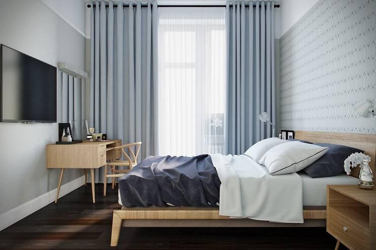 Дизайн квартиры г.Москва : Спальни в . Автор – NK design studio