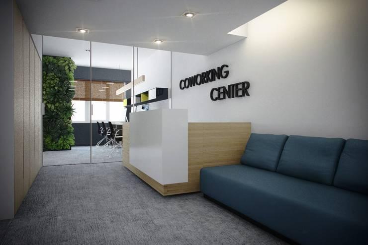 Дизайн коворкинга г.Киев: Офисные помещения в . Автор – NK design studio,
