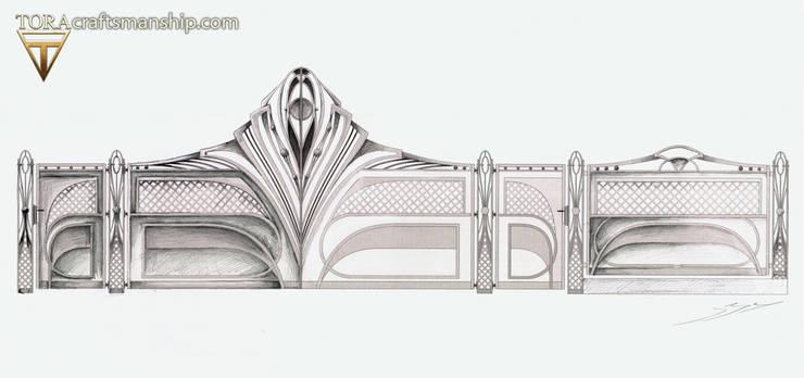 Projekt wyątkowej bramy/ogrodzenia.: styl , w kategorii Ogród zaprojektowany przez Pracownia TORA