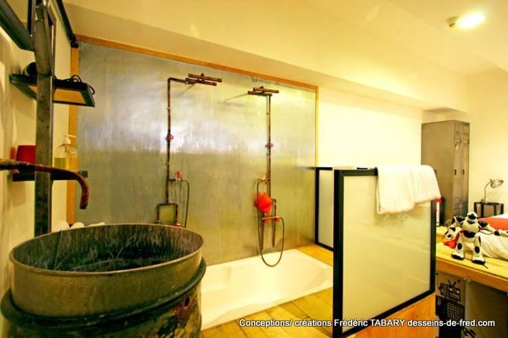 Baños de estilo industrial por Tabary Le Lay