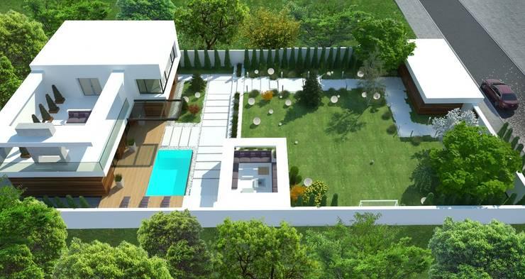 Загородный дом в Краснодаре: Дома в . Автор – NK design studio, Модерн