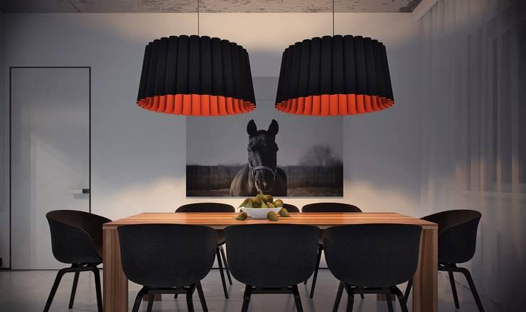 Загородный дом в Краснодаре: Столовые комнаты в . Автор – NK design studio, Модерн