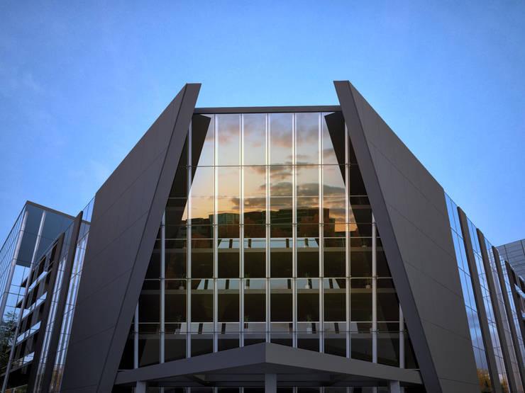 БИЗНЕС ЦЕНТР / ПР. АЛЬ-ФАРАБИ, АЛМАТЫ: Офисные помещения в . Автор – Lenz Architects