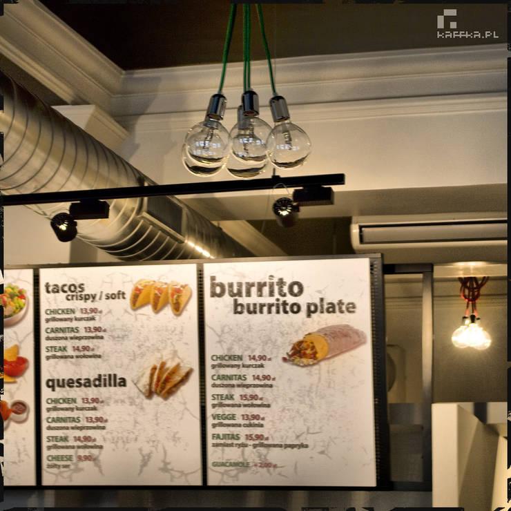 Jalapenos – świeże wydanie fast-foodu: styl , w kategorii Gastronomia zaprojektowany przez Pracownia Kaffka