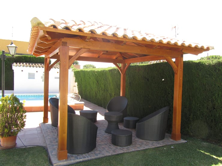 Jardines de estilo  por Ático y Jardín