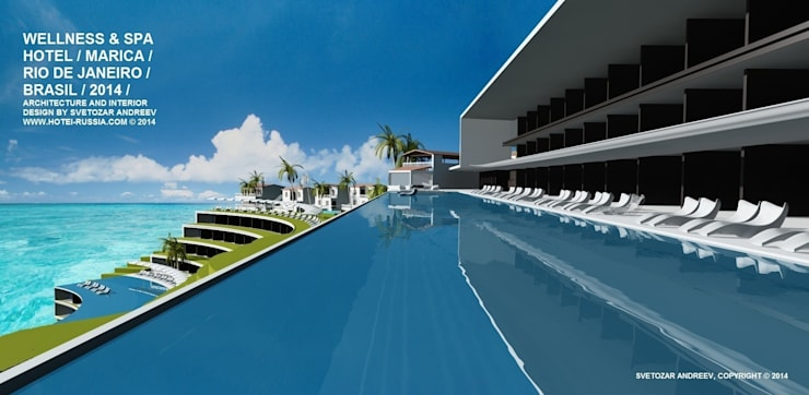 Wellness Spa Hotel, Rio De Janeiro, Brasil: Гостиницы в . Автор – Svetozar Andreev Architectural Studio: Hotei-Russia ,