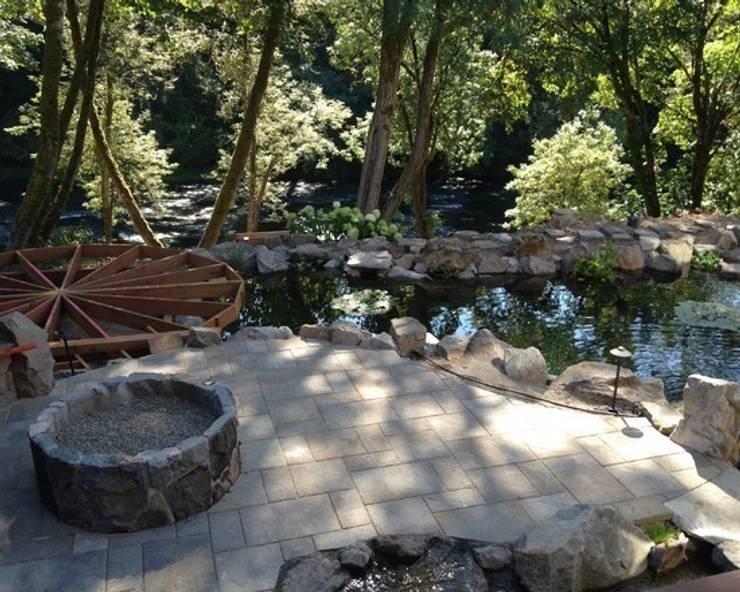 Строительство водоема и Патио + мангал:  в . Автор – Студия 'ART Story'