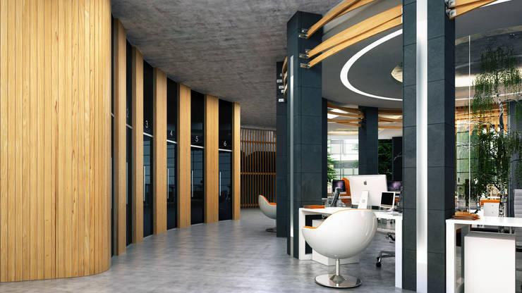CAPITAL BANK KAZAKHSTAN / АЛМАТЫ / ВАРИАНТ А: Офисные помещения в . Автор – Lenz Architects