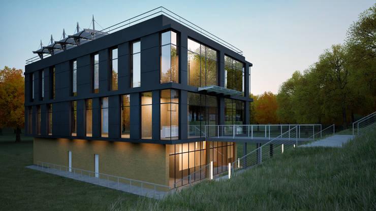 BUSINESS CENTER / RADLOVA STR, ALMATY: Офисные помещения в . Автор – Lenz Architects