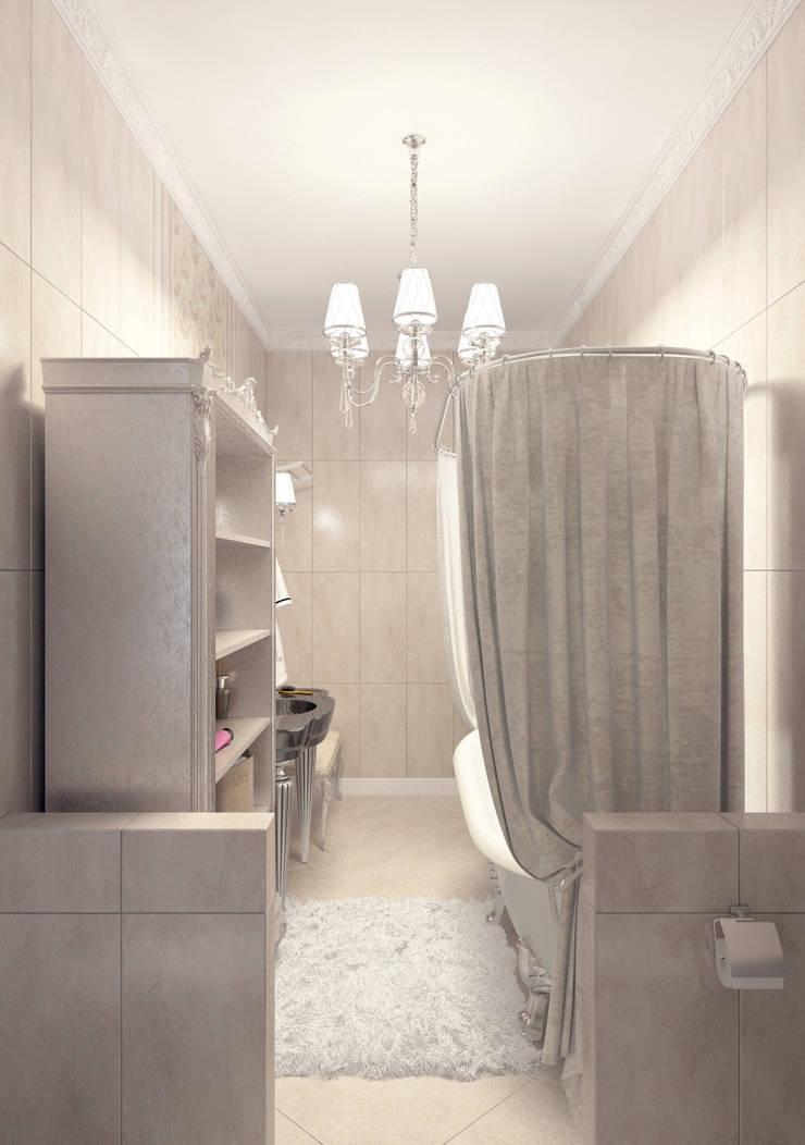 Частный дом в Краснодарском крае.: Ванные комнаты в . Автор – elitdizayn