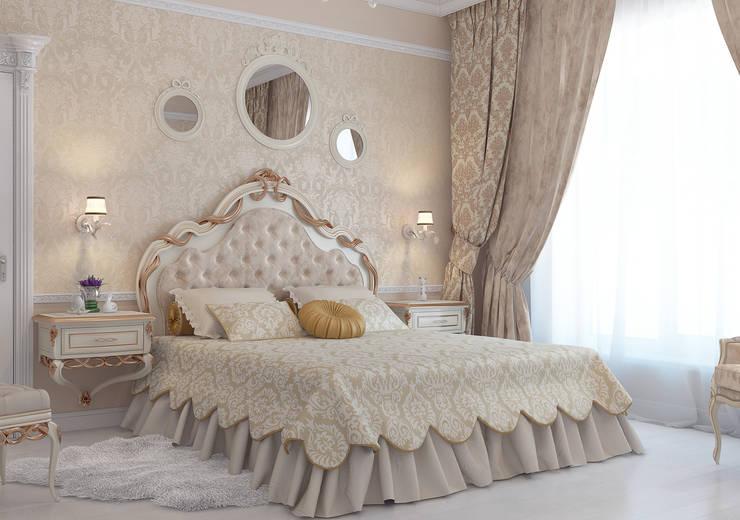 Частный дом в Краснодарском крае.: Спальни в . Автор – elitdizayn