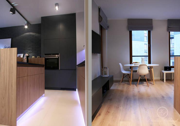 GREY II: styl , w kategorii Kuchnia zaprojektowany przez Kołodziej & Szmyt Projektowanie wnętrz