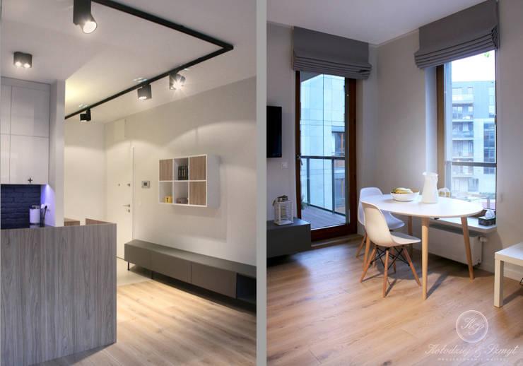 GREY II: styl , w kategorii Łazienka zaprojektowany przez Kołodziej & Szmyt Projektowanie wnętrz