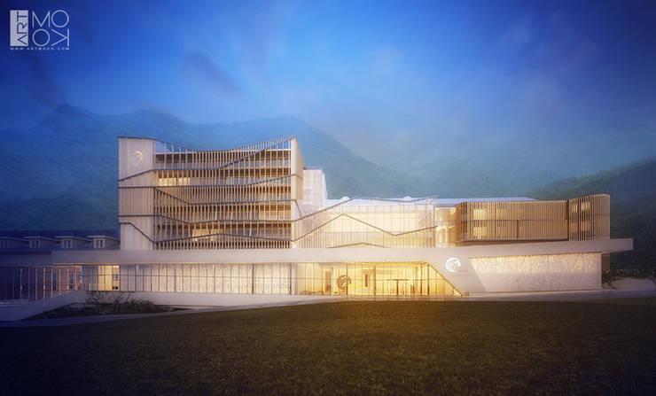 Projekt oświetlenia hotelu: styl , w kategorii Hotele zaprojektowany przez Pracownia projektowa artMOKO