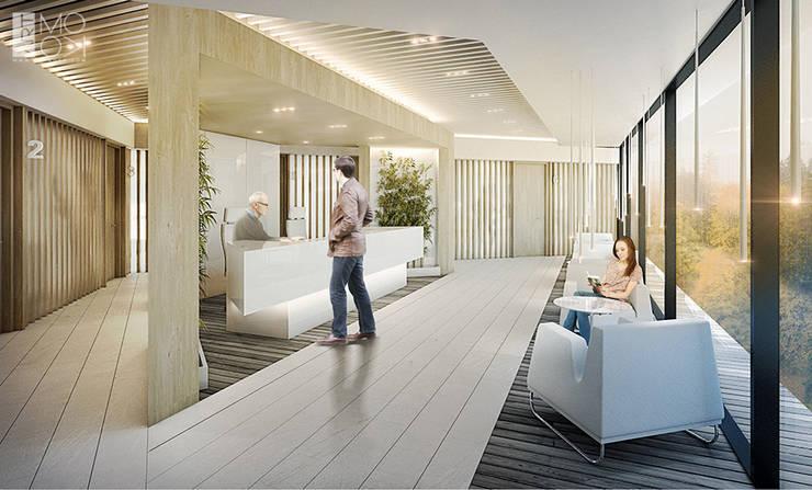 Przychodnia kliniki: styl , w kategorii Kliniki zaprojektowany przez Pracownia projektowa artMOKO