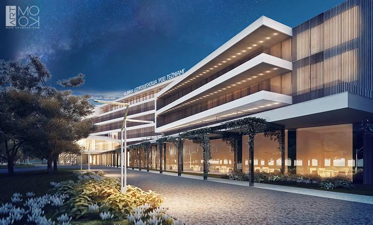 Projekt oświetlenia kliniki: styl , w kategorii Kliniki zaprojektowany przez Pracownia projektowa artMOKO