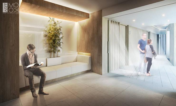 Poczekalnia kliniki: styl , w kategorii Kliniki zaprojektowany przez Pracownia projektowa artMOKO