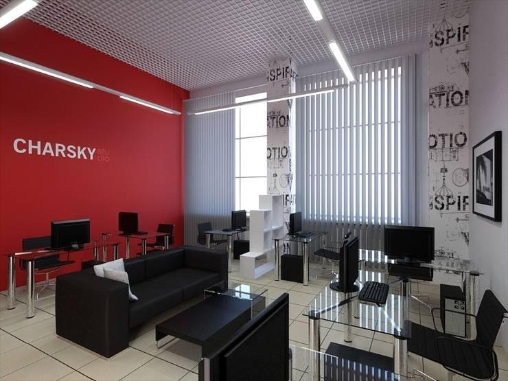 Office Charsky Studio: Офисные помещения в . Автор – Дмитрий Максимов, Модерн