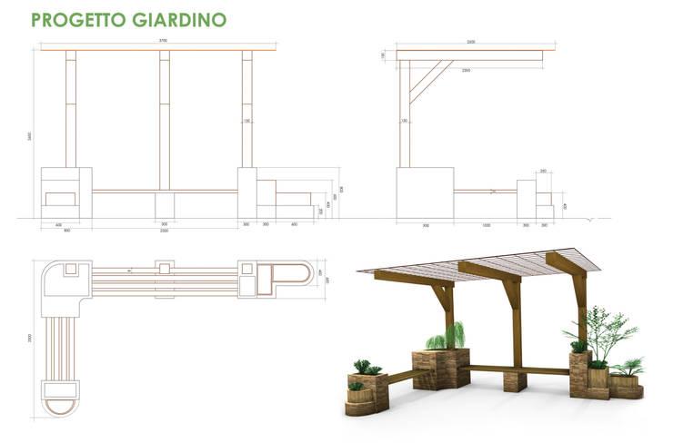 de estilo  por Federico Vota design, Rústico