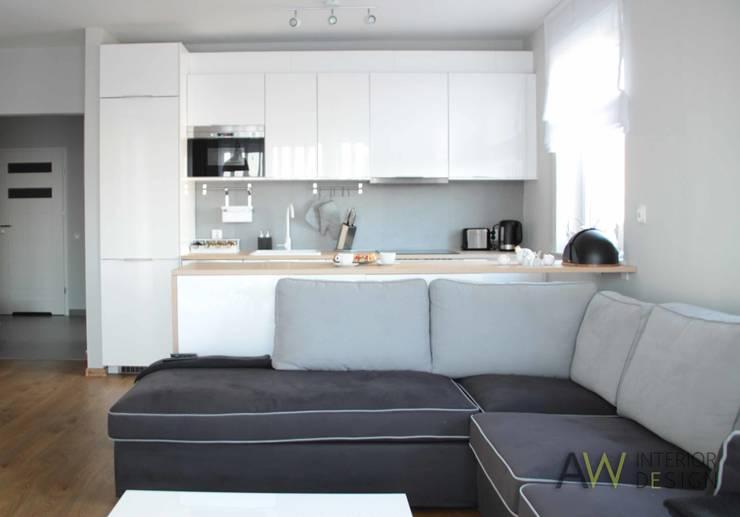 APARTAMENT W KRAKOWIE: styl , w kategorii Kuchnia zaprojektowany przez AW INTERIOR DESIGN