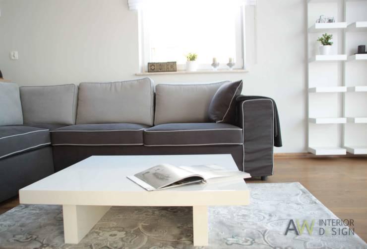 APARTAMENT W KRAKOWIE: styl , w kategorii Salon zaprojektowany przez AW INTERIOR DESIGN