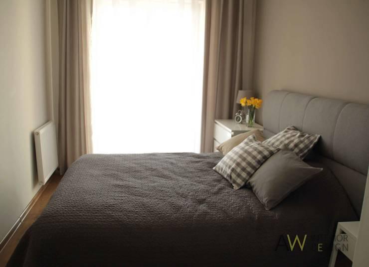 APARTAMENT W KRAKOWIE: styl , w kategorii Sypialnia zaprojektowany przez AW INTERIOR DESIGN