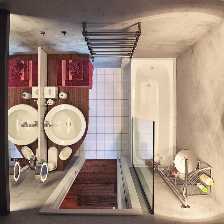 дизайн квартиры 40м2: Ванные комнаты в . Автор – sreda