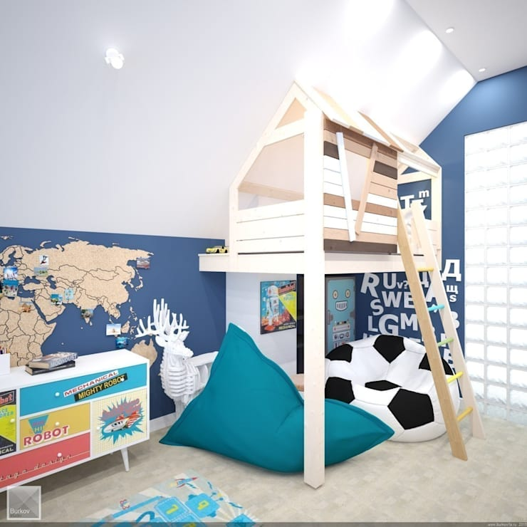 industrial Nursery/kid's room by Burkov Studio