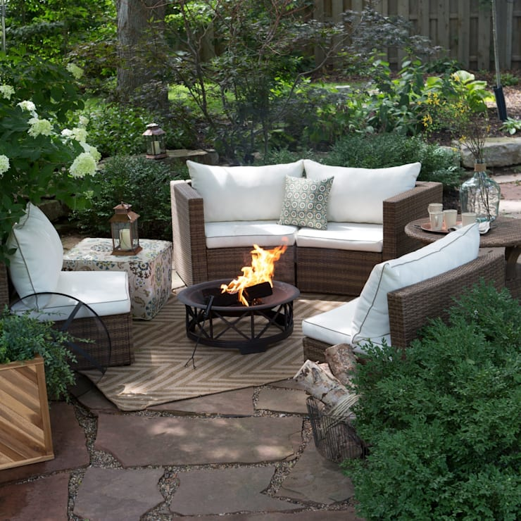 BAHÇE ŞÖMİNESİ – KIŞ GÜNEŞİ:  tarz Bahçe