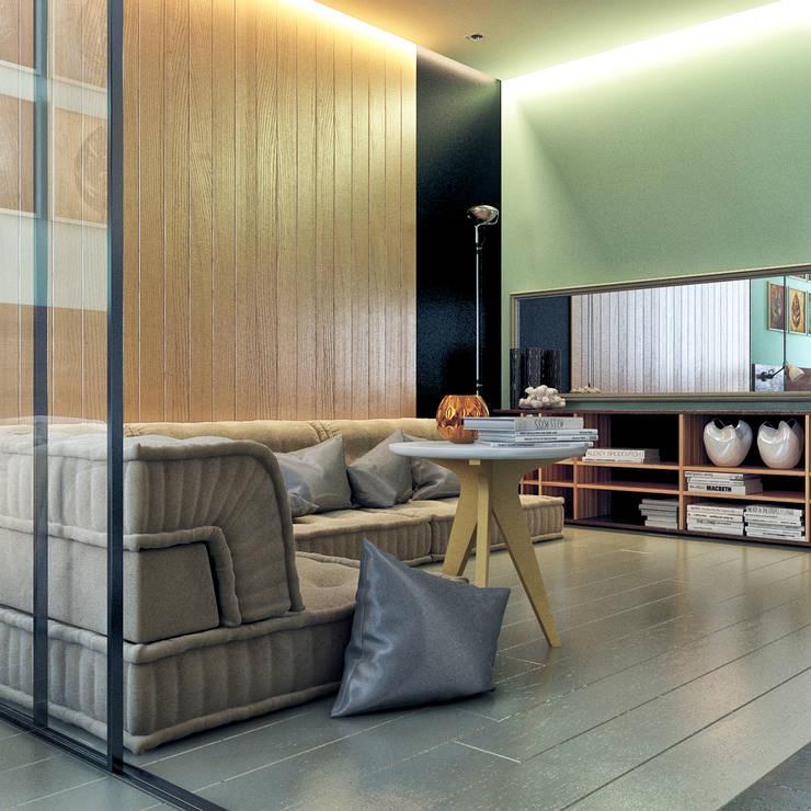 дизайн квартиры 42м2: Гостиная в . Автор – sreda