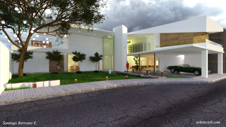 Casa CH 1: Casas de estilo  por arquitecto9.com