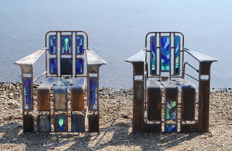 2 Fauteuils  'Blue Moon':   door Corderee, Eclectisch