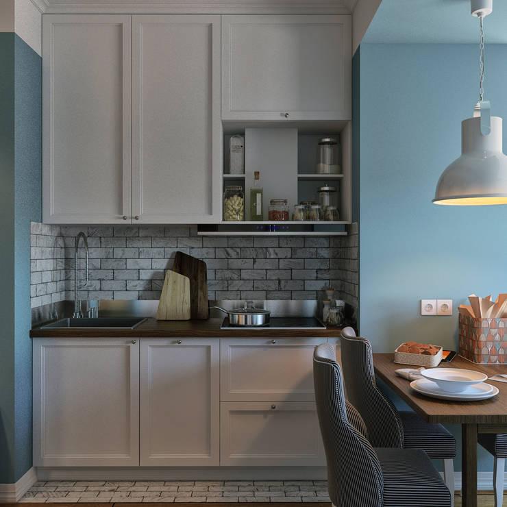 дизайн квартиры 60м2 г. Санкт-Петербург: Кухни в . Автор – sreda, Классический