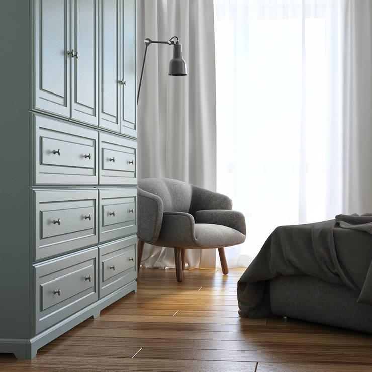 дизайн квартиры 60м2 г. Санкт-Петербург: Спальни в . Автор – sreda, Классический