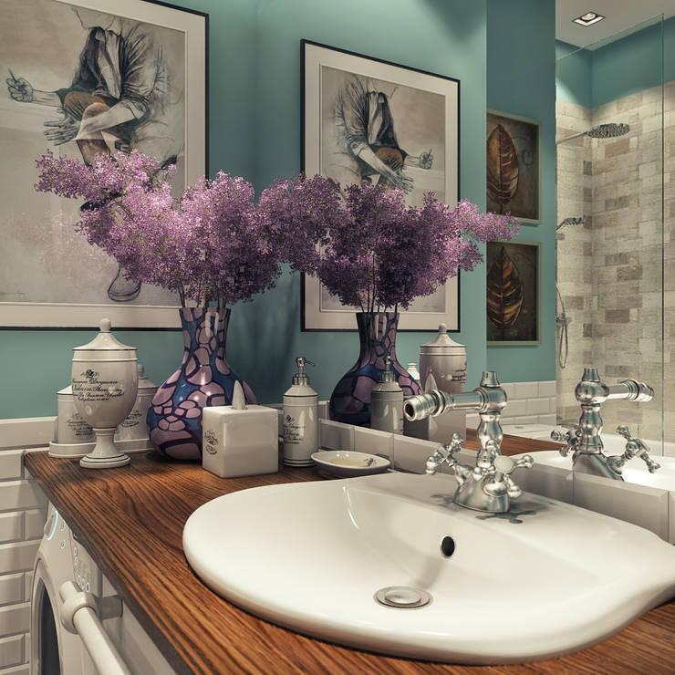 дизайн квартиры 60м2 г. Санкт-Петербург: Ванная комната в . Автор – sreda
