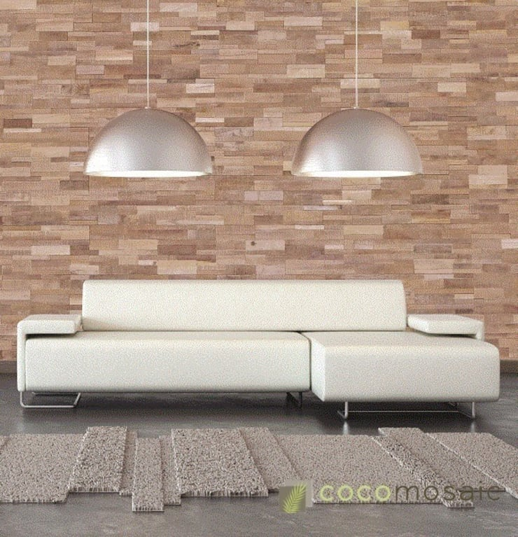 Salas / recibidores de estilo  por Nature at home | Cocomosaic | Wood4Walls, Moderno