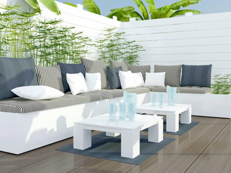 Terrasse design: Terrasse de style  par Atelier Pourpre Design & Décoration SPRL