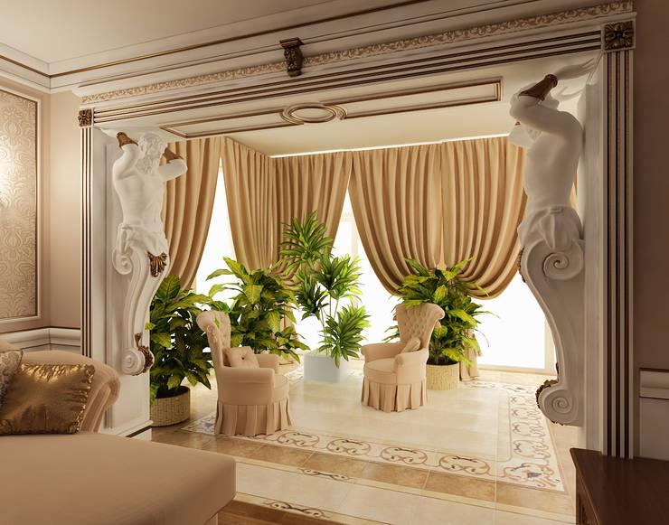 Дизайн гостиной в стиле модерн: Гостиная в . Автор – Студия дизайна интерьера Руслана и Марии Грин