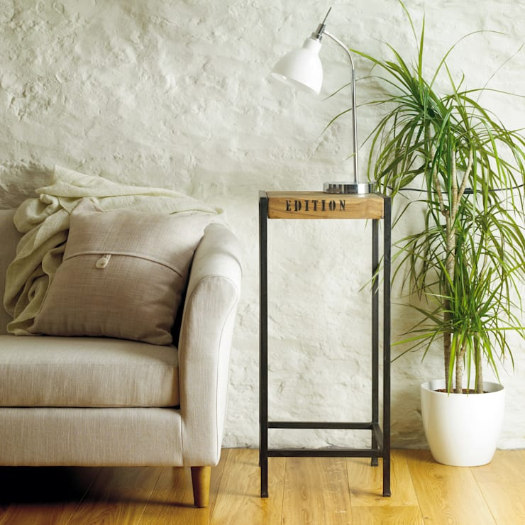 Tall Industrial Side Table from our Urban Chic Range: industrial Living room by Big Blu Furniture