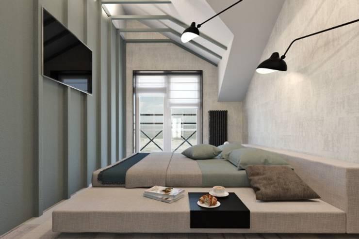 Дизайн проект загородного дома: Спальни в . Автор – Cтудия 'ART Story', Скандинавский