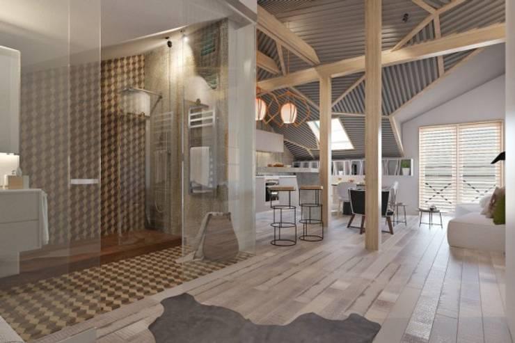 Дизайн проект загородного дома: Кухни в . Автор – Cтудия 'ART Story'