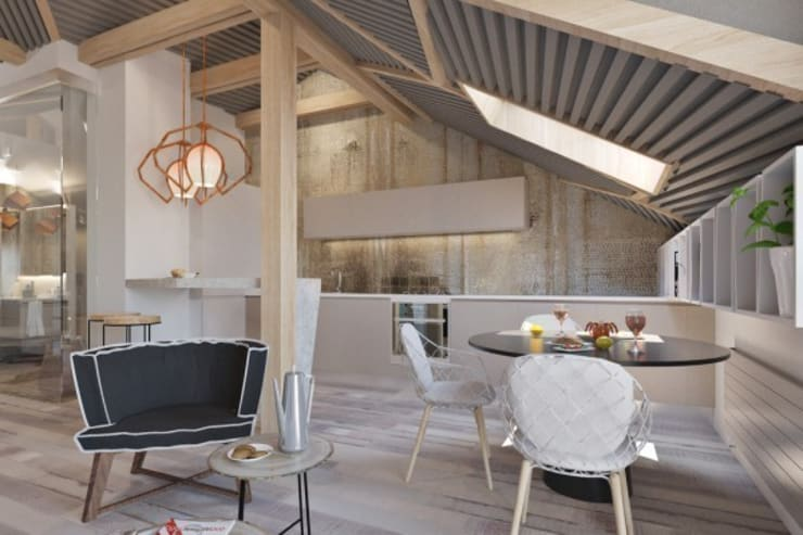 Дизайн проект загородного дома: Столовые комнаты в . Автор – Cтудия 'ART Story', Скандинавский