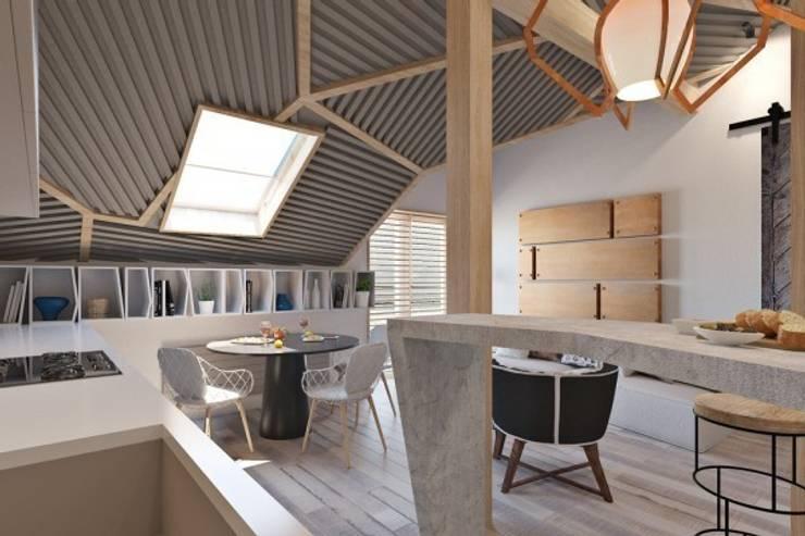 Дизайн проект загородного дома: Рабочие кабинеты в . Автор – Cтудия 'ART Story', Скандинавский