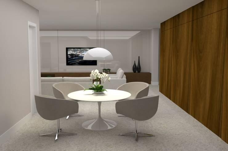 Salas / recibidores de estilo  por Ana Paula Carneiro Arquitetura e Interiores, Minimalista